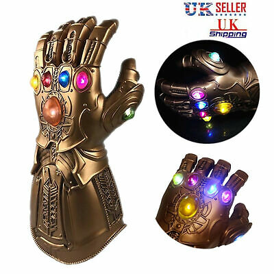 Avenge 3 Infinity War Infinity Gauntlet With LED Cosplay Thanos Gloves Xmas UK