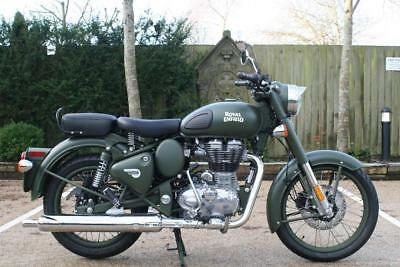 Royal Enfield Bullet Classic 500 Efi Euro 4 Military In Battle Green Re Classic