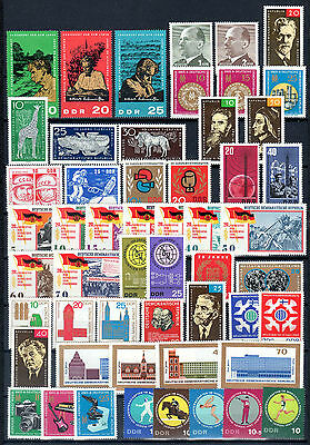 East-Germany/GDR/DDR: All stamps of 1965 in a year set complete, MNH