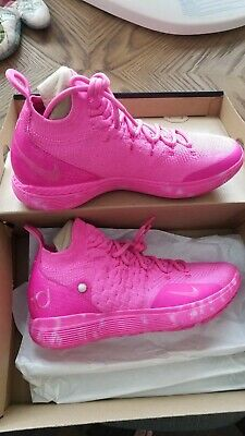 dc21e4238925 2019 Nike Kd 11 Aunt Pearl Laser Fuchsia Breast Cancer Bv7721-600 Basketball