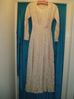 Vintage Lee Delman Peach Gown / Wedding Dress