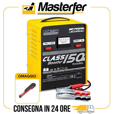 Caricabatterie avviatore 12V Deca CLASS BOOSTER 150A auto + TORCIA LED