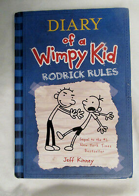 Used Diary of a Wimpy Kid Book Series Rodrick Rules Hardback Jeff Kinney