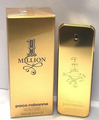 ONE MILLION Perfume BY PACO RABANNE For Men 100 ML EDT 3.4 Oz Spray NIB