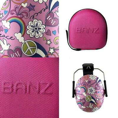 Banz Kids Earmuffs and Case Peace / Azalea