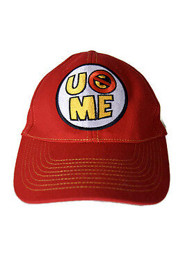 best website 3d8fb 4ec95 WWE AUTHENTIC JOHN CENA U Can T See Me Red Baseball Cap Hat