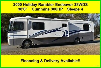 2000 Holiday Rambler Endeavor 38WDS Class A Coach Diesel Pusher Motor Home RV MH