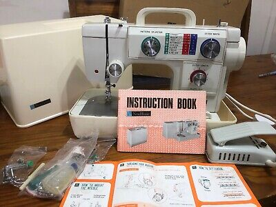 Vintage NEW HOME 691 Portable Electric Sewing Machine With Case Bundle  - P04