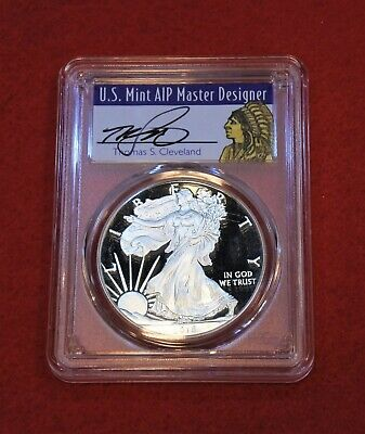 2018 W Proof Silver Eagle Pcgs Pr70Dcam Cleveland First Strike