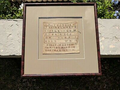 1811 Embroidery Sampler Handmade Cross Stitch (POLLY MAXSONS) Antique