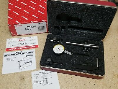 Starrett No. 709Acz Dial Test Indicator W/Accesories In Case *New*