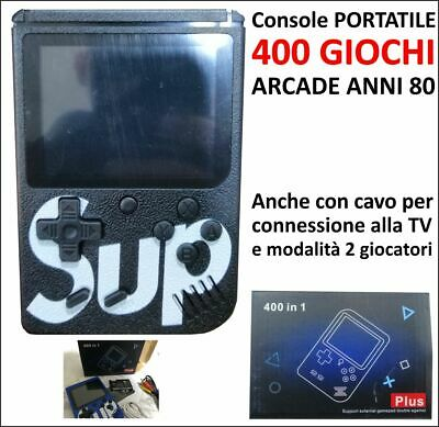 Mini Game Boy Girl Retrogame Portatile 400 Giochi Anni 80' 90' Videogame 8 Bit