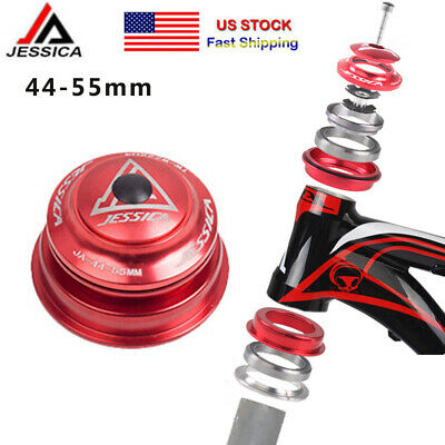 44-56mm MTB Bike Bicycle Bearings Taper Headset Cone tube for 28.6mm fork 1-1//8/""