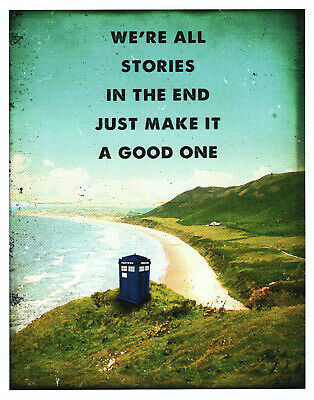 Doctor Who Art Print 8x10 Tardis Landscape Were All Stories In