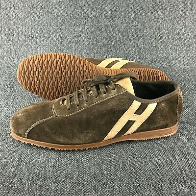 6e69d03e331 HOGAN MEN'S SNEAKERS shoes in beige suede leather and fabric Size US ...