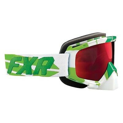 FXR MISSION SNOWMOBILE MX SKI GOGGLES- Green / Lime  - ONE SIZE -NEW