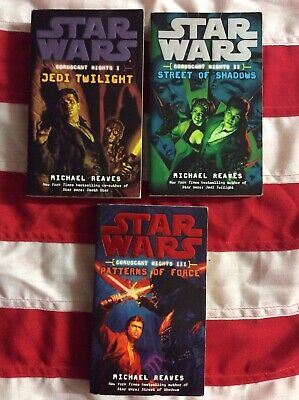 Star Wars Coruscant Nights Trilogy Paperback Books Novels Del Ray