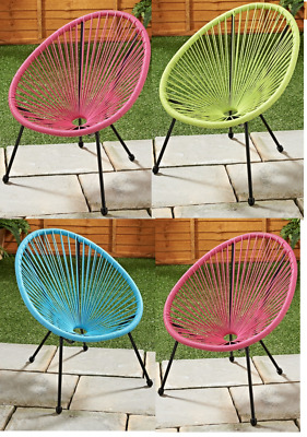 Kids Children String Moon Chair Steel Garden Patio Indoor Outdoor Picnic Chair