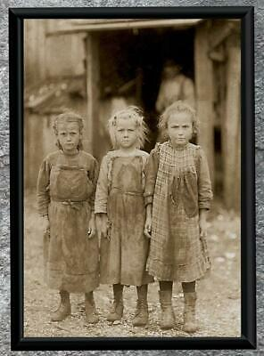 Remarkable... Depession Era, Girls , Dirty 30's ... Antique 5x7 Photo Print