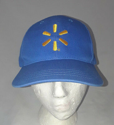 314b1c35 Wal Mart Employee Spark Blue W/ Yellow Logo Strapback Hat Save Money Live  Better