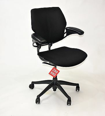 Humanscale Freedom Med Back Chair   New Black fabric