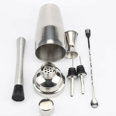Drink Bartender Martini Tools Bar Kit Set Stainless Steel Cocktail Shaker Mixer