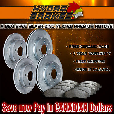 Fits 2009 2010 2011 2012 Honda Pilot Oe Blank Brake Rotors Ceramic Slv