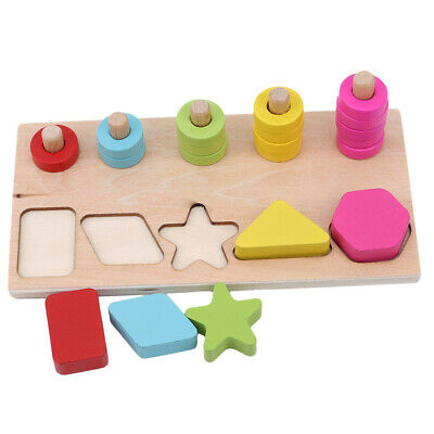 Retro Wooden Toy Bundle Including John Lewis Puzzle Shape Sorter Stacking LH