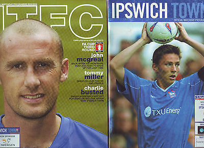 Ipswich Town V Derby County 3 Jan 2004 & Reading 18 Mar 2003. Quality Progs Vgc