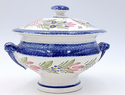 Quimper French Faience Tureen with lid