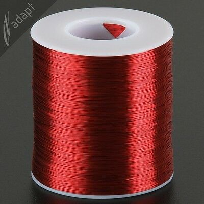 31 AWG Gauge Magnet Wire Red 4000' 155C Solderable Enameled Copper Coil WindingS