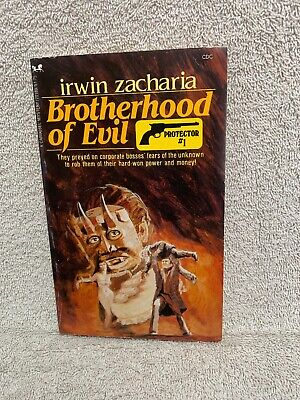 Brotherhood of Evil : Protector #1 by Irwin Zacharia 1982 Carousel 70189 mystery
