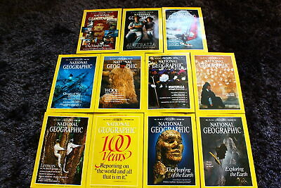 11x The National Geographic Magazine (engl) 1988