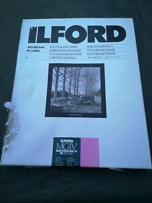 Ilford MGIV Multigrade IV RC DELUXE 9.5 X 12 50 Sheets