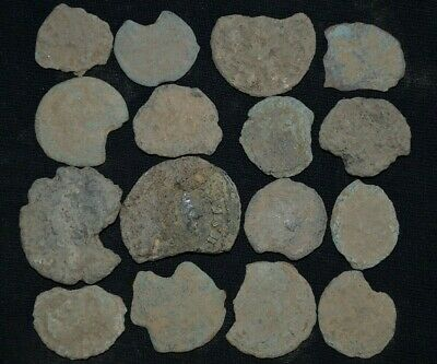 Group of 16 Ancient Roman Imperial Bronze coins, 250-350 AD Metal Detector Finds
