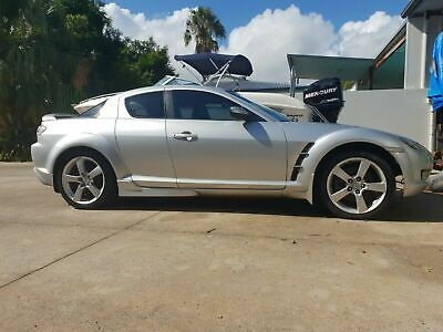 2004 Mazda RX-8 Sedan 6 Speed Manual in silver with Black Leather Interior