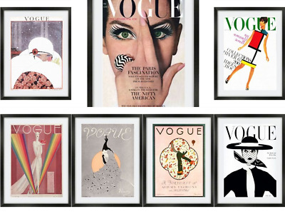 Vogue Fashion Designer Chanel Vintage Poster Print Wall Art Deco A3 A4 Posters
