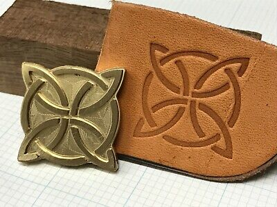 Brass 4 POINT CELTIC KNOT Letterpress Tool Stamp leather embossing die