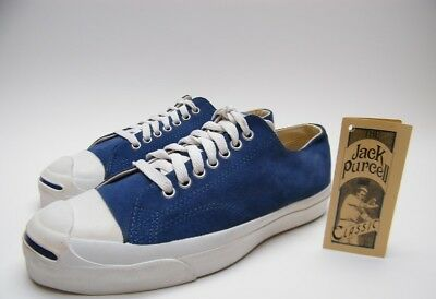 c577e9ff938686 Mens Vintage Converse Jack Purcell Blue Suede Shoes Sz 8.5~1 2 Made In