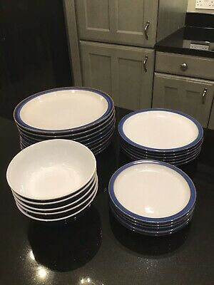 Denby Imperial Blue Plates And Bowls