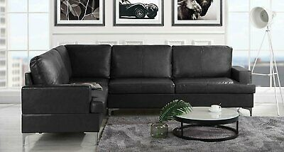 Amazing Classic Upholstered 103 9 Inch Leather Sectional Sofa L Inzonedesignstudio Interior Chair Design Inzonedesignstudiocom