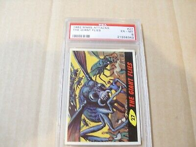 """Mars Attacks """"the Giant Flies"""" # 27 Graded By Psa Ex-Mt 6"""