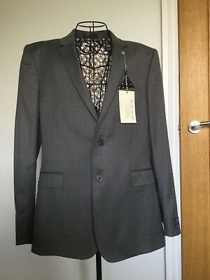 """New Mens Ted Baker London. Grey Wool Suit Jacket .new With Tags. Chest 40"""" Reg"""