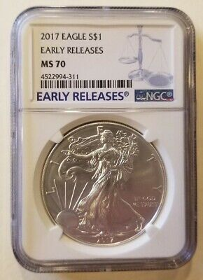 2017 1oz American Silver Eagle NGC MS70 Early Releases Cert# 4522994-311