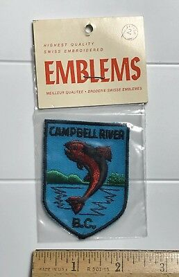 NIP Campbell River BC British Columbia Jumping Fish Canada Embroidered Patch