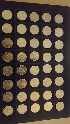 JOBLOT of 40x50p Coins Fifty Pence Rare commemorative Circulated Various designs