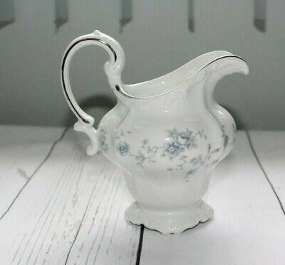 Vintage Johann Haviland BLUE GARLAND Bavaria Germany Creamer Pitcher