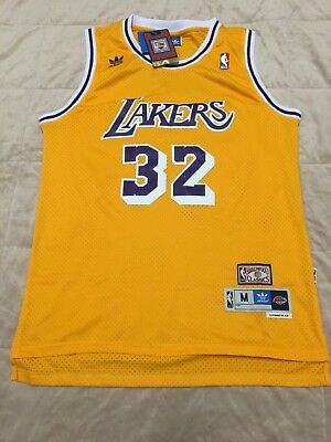 info for 0d2cf cb9d1 MAGIC JOHNSON #32 L.A. Lakers Classic Throwback Jersey (Gold)