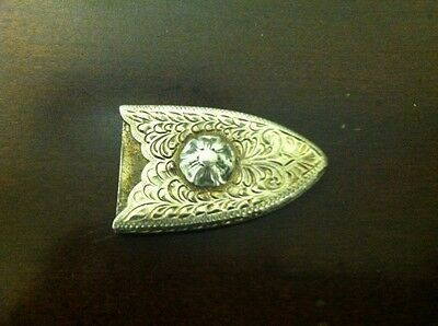 "Edward Bohlin 1"" Belt Tip, Sterling Silver"