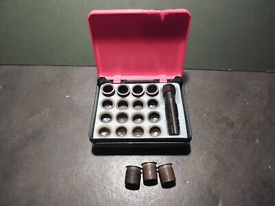 Taskmaster Helicoil rethread 14 mm spark plug repair kit with 19 inserts and tap